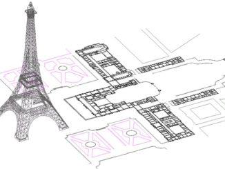 Размеры Эйфелевой башни.
