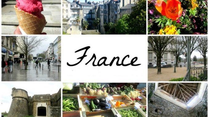 Города и регионы Франции.