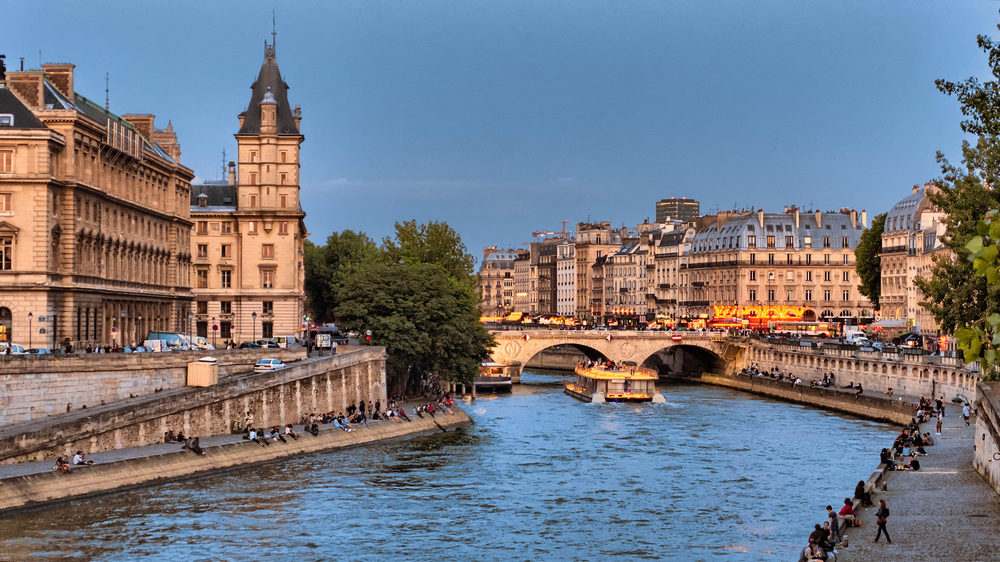 The Pont Michel from the Pont Neuf, Paris