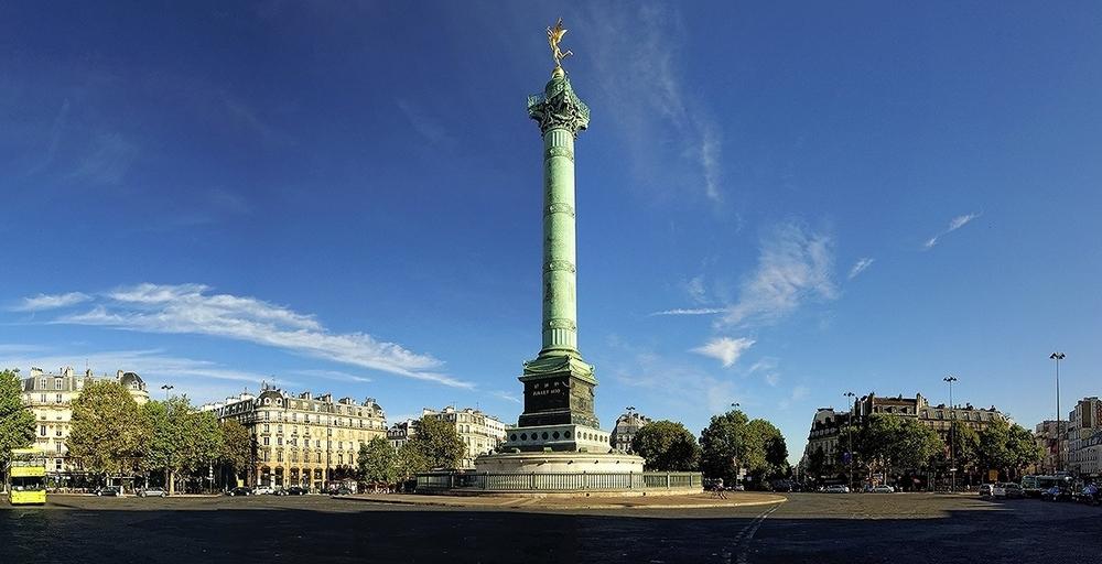 Площадь Бастилии - главные достопримечательности Парижа.