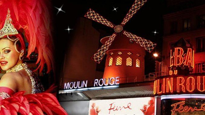 "Кабаре ""Мулен Руж"" - символ ночной жизни Парижа."
