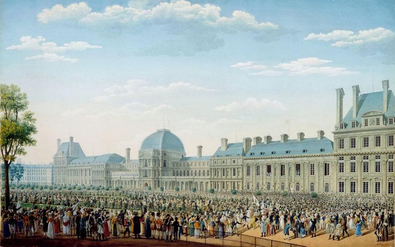 Антон Игнас Мелленг (1763-1831) – Дворец Тюильри