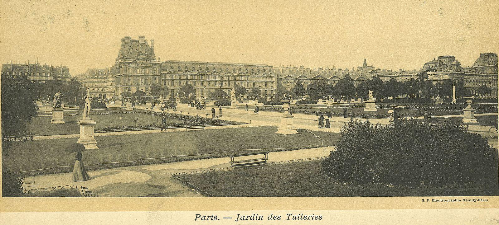 Сад Тюильри на старинных открытках.