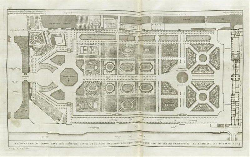 План дворца и сада Тюильри.