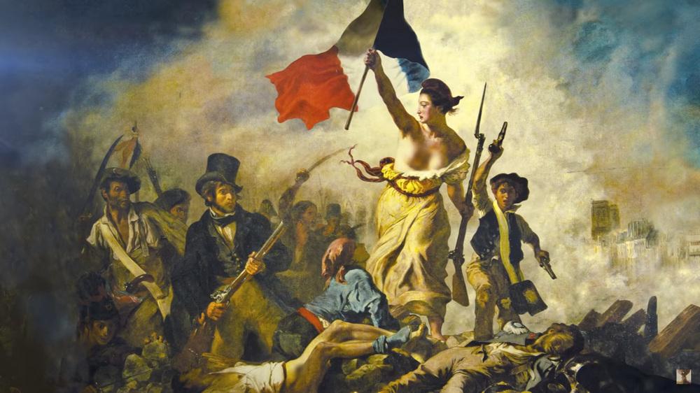 Эжен Делакруа - Свобода, ведущая народ, или Свобода на баррикадах.